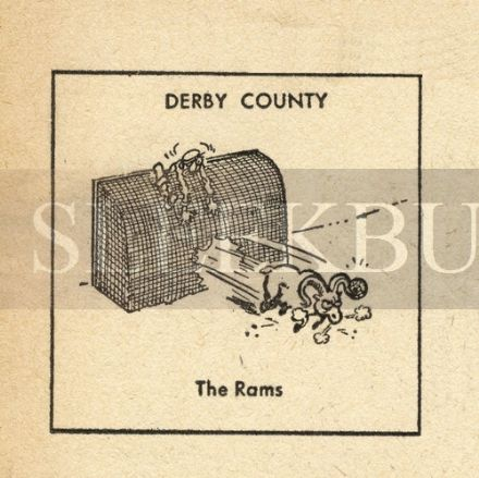 VINTAGE Football Print DERBY COUNTY - THE RAMS Funny Cartoon